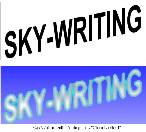How To Obtain A Sky Writing Effect From Your Text Skywriting Filter