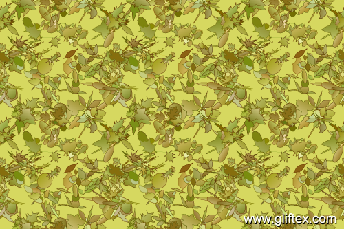 Surface Pattern Design Example (light floral)