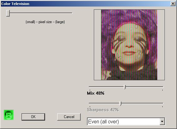 Scanlines And Color Tv Effects And Filters